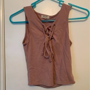 Perfect condition Mauve Crop Top